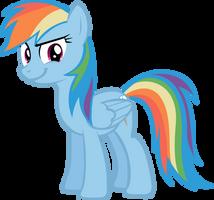 Rainbow Dash Smirking by LilCinnamon