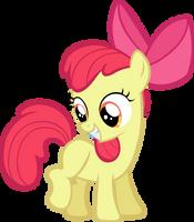 Apple Bloom all happy. by LilCinnamon