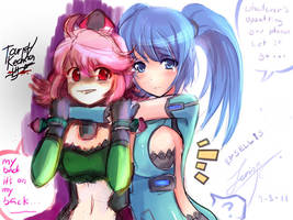 CB girls - OC with Kechan by Zerion