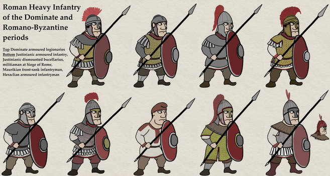 Dominate + Romano-Byzantine Heavy Infantry by foojer