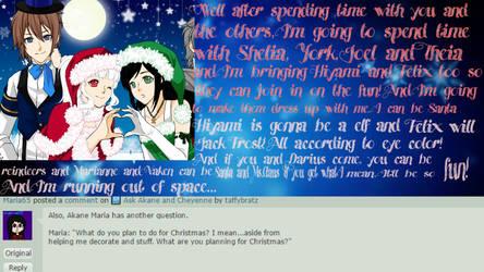 Ask Akane Christmas Reply by taffybratz