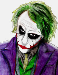 Joker in the Dark Knight by ImpurDeath