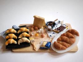 Croissants Preparation Board by vesssper