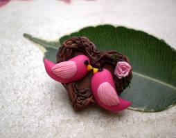 Love Nest Brooch by vesssper