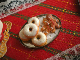 Donuts and Gingerbread Cookies by vesssper