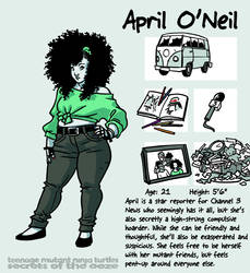 Secrets Of The Ooze: April O'Neil by mooncalfe