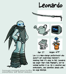 Secrets Of The Ooze: Leonardo by mooncalfe