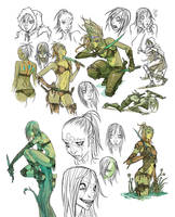 Kexilath DnD drawings by mooncalfe