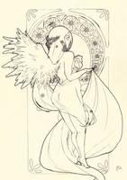 Angel lineart by Daisken