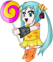 Candy Miku by Fario-P