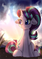 The sun is rising by whiskyice