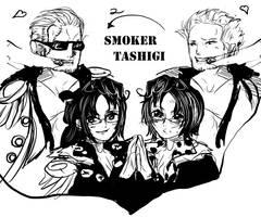 Smoker and  Tashigi by Nina1love1