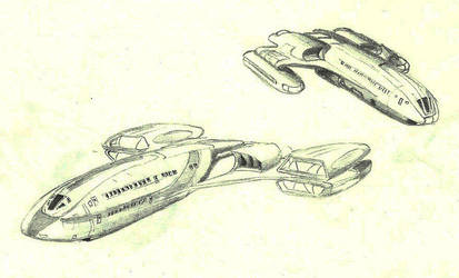 Federation Civilian Transports by ANDY1701A