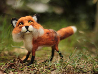 Poseable Fox Sculpture - (SOLD) by LaVolpeCimina