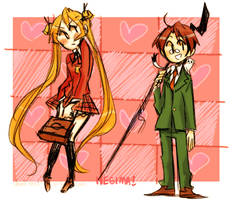 Negi and Asuka by Xxnarutogrl6xX