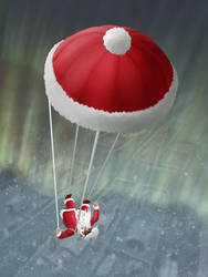 Skydiving Santa by hectigo