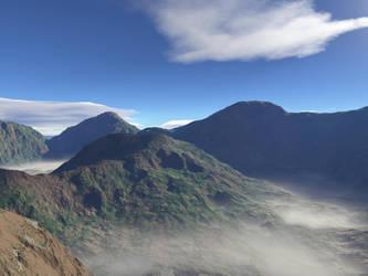 Misty.mountain.pass by cmptrwhz