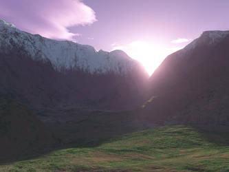 Sunrise on the Pass by cmptrwhz