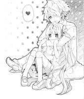 Musashi and Pinku by yura-tsuki
