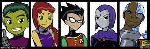 Teen Titans!!! by yura-tsuki
