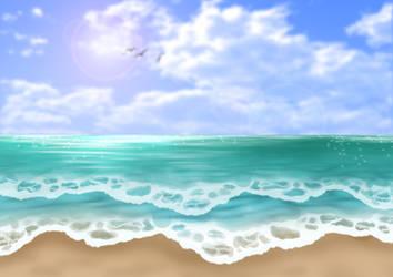 Free Beach Background by SweetLittleVampire