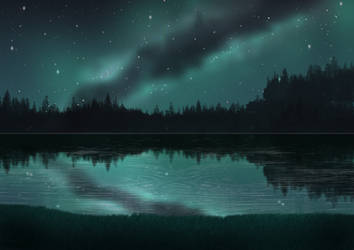 Free Starry Night Background by SweetLittleVampire