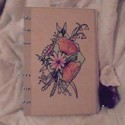 [DIY] Watercolour Sketchbook Cover by SweetLittleVampire
