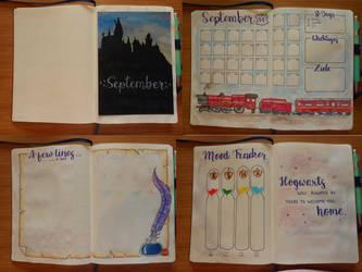 Bullet Journal Spread: September 1 by SweetLittleVampire