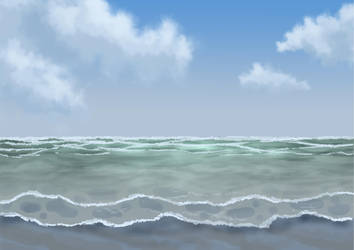 Free Beach Afternoon Background by SweetLittleVampire