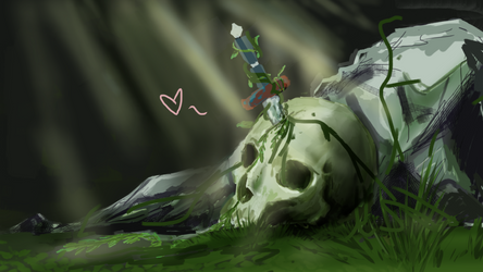 WIP : Skull! by raychuhll