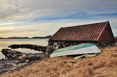 Boathouse at Hafrsfjord by newdawn84