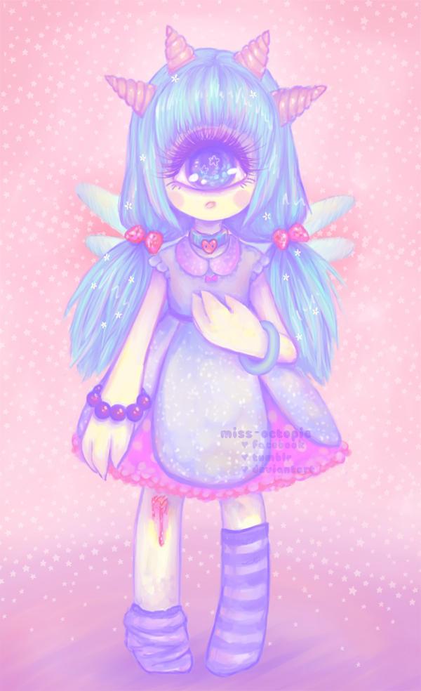 Little Monster Girl by miss-octopie