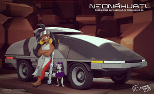 Neonahuatl Ohtli Rider shot 01 by HTECORE