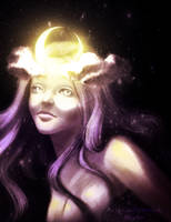 Moon Goddess Selene by kanmi