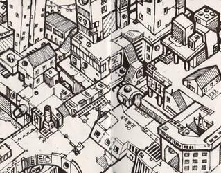 Atoms4D City Illustration #005 by owenprescott