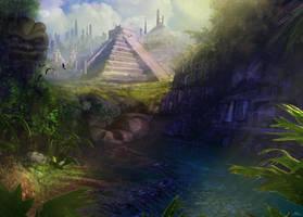 Future Mayan Temple by Art-by---AdamRuss