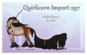 Quirlicorn Semi-Custom Import 297 by Astralseed