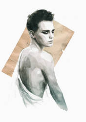 Handmade love (portrait of Erika Linder) by estherproductos