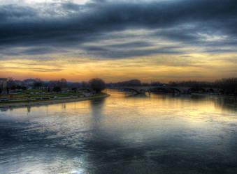 Sunset at Avignon by BluePalmTree
