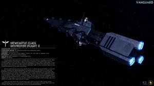 UECN Newcastle Class Destroyer (Flight I) by Zeus1257