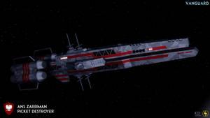 Zarriman Class Picket Destroyer by Zeus1257