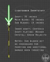 Lightsaber Shortstaff by Lightning-in-my-Hand