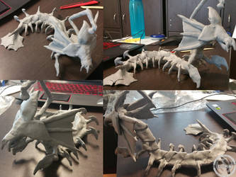 3D Design Project - Ghu Ven Leviathan (Unfinished) by Lightning-in-my-Hand
