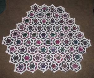 Hexagon throw by CarpeDraco
