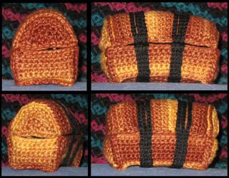 Crocheted Treasure Chest by CarpeDraco