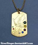 Seven Emeralds Dog Tag by SilverSlinger