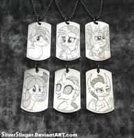 Student Six Pendants by SilverSlinger