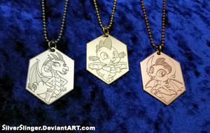 Dragon Wing Pendants by SilverSlinger