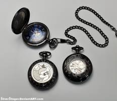 Midnight Luna Pocket Watch by SilverSlinger