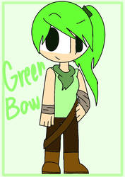 Human Green Bow by ThisIsTy2006